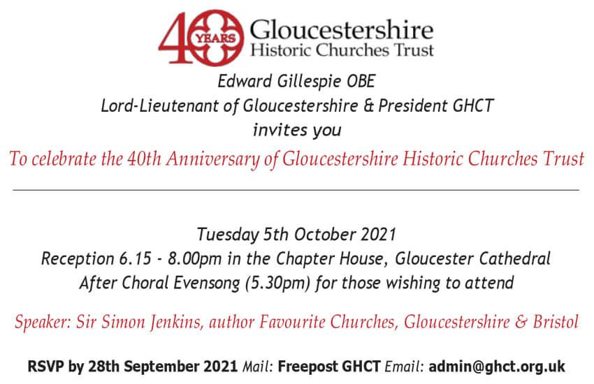 Invite to 40th anniversary